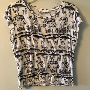 Crop Top Animal Shirt